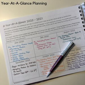 My Someday Planner 2021 Edition - Business Organizer Goals Journal and Social Media Planner Year At A Glance Planning Launch Planning Seasonal Sales Planning